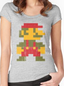 8 bit Mario V.1 Women's Fitted Scoop T-Shirt