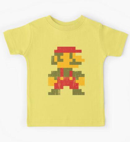 8 bit Mario V.1 Kids Tee