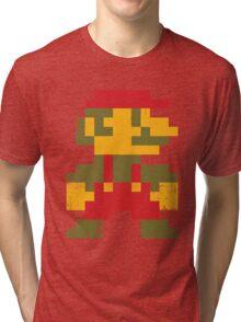 8 bit Mario V.1 Tri-blend T-Shirt
