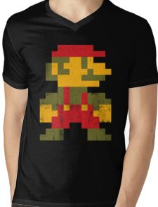 8 bit Mario V.1 Mens V-Neck T-Shirt