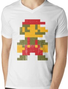 8 bit Mario V.1 Mens V-Neck T-Shirt