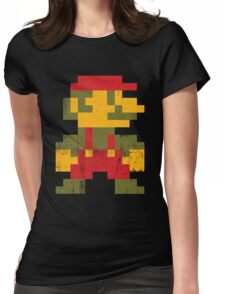 8 bit Mario V.1 Womens Fitted T-Shirt