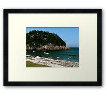 Swim at Black Beach ! Framed Print