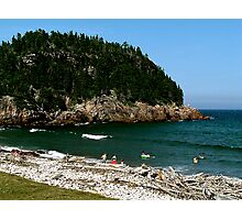 Swim at Black Beach ! Photographic Print