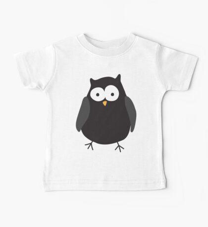 Quirky cartoon night owl Baby Tee