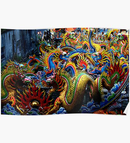Chinese Dragons Poster