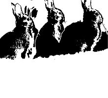 Rabbit silhouette  by linwatchorn