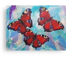 Peacock Butterflies Canvas Print
