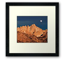 Mount Whitney At Sunrise. Framed Print