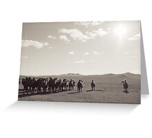Postcards from Mongolia- Camals Greeting Card