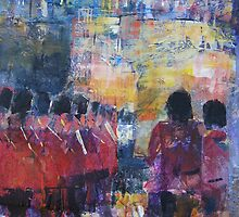 Marching Soldiers - Guards On Parade at Castle by Ballet Dance-Artist