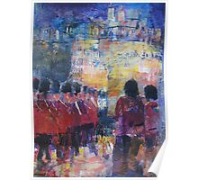 Marching Soldiers - Guards On Parade at Castle Poster