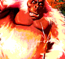 Fantastic Monkey Love Fan Sticker