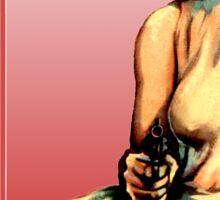 Girl With Gun Sticker