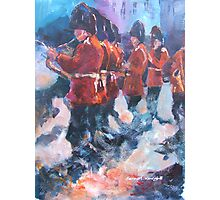 Soldiers - Marching British Guards Band Photographic Print