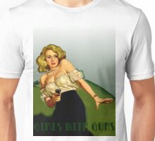 Classic Girl with Gun Unisex T-Shirt