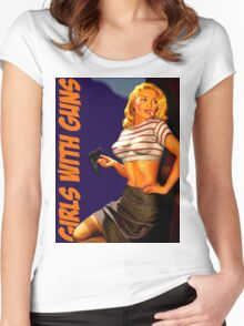 Classic Girls With Guns Women's Fitted Scoop T-Shirt