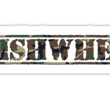 GISHWHES - Army Style Sticker