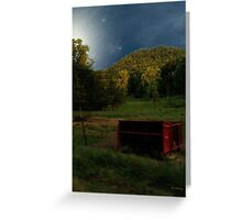 Wisconsin Valley Moonrise Greeting Card