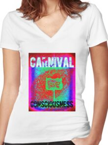Carnival Conciousness digital remix T shirts Women's Fitted V-Neck T-Shirt