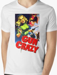 Gun Crazy Mens V-Neck T-Shirt