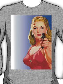 Red Hot Girl with Gun T-Shirt