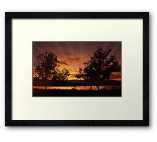 Sunset at Prado Framed Print