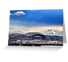 Cloudy with a Chance of Rainier Greeting Card