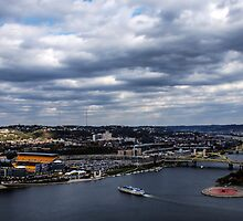 Photograph of Pittsburgh, Heinz Field, and Gateway Clipper by Michelle Joseph-Long