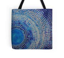 Blue Kachina original painting Tote Bag
