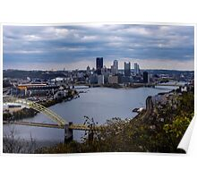 Pittsburgh Skyline showing Heinz Field Poster