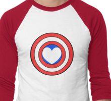 Captain Looooooove Men's Baseball ¾ T-Shirt