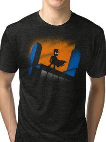 BARTMAN BEGINS Tri-blend T-Shirt