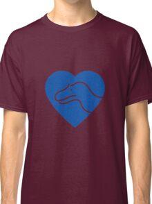 Dinosaur heart: Torvosaurus (Blue on white) Classic T-Shirt
