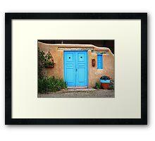 Blue Doors & Windows of Taos Framed Print