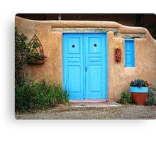 Blue Doors & Windows of Taos Canvas Print
