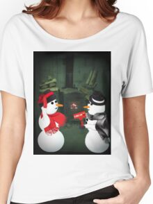 U MELT MY HEART FUN SNOWMAN VARIOUS APPAREL-- PICTURE,CARD,PILLOW AND OR TOTE BAG Women's Relaxed Fit T-Shirt