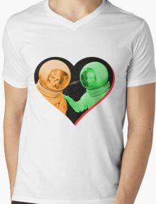 Love & Death Space Style Mens V-Neck T-Shirt