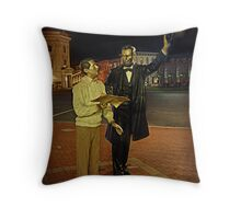 An Encounter With Abraham Lincoln Throw Pillow