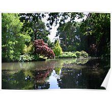 Lake and Trees at Exbury Poster