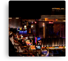 Las Vegas Tilt Shift Canvas Print