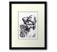 ZOMBIE Clown ©2014 Framed Print