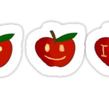 SuperWhoLock Apples Sticker