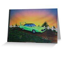 Mopar superbird - 70's muscle car Greeting Card
