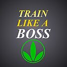 Herbalife Train Like A Boss iPhone Case by Scott Hawkins