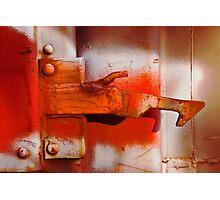 Orange Latch Photographic Print