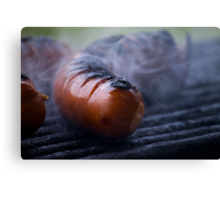 grilled sausages Canvas Print