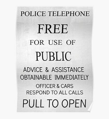 TARDIS Door Sign Poster
