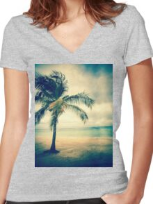 Palm Island Women's Fitted V-Neck T-Shirt