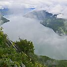 Lake Kanas enveloped by clouds by Brian Bo Mei